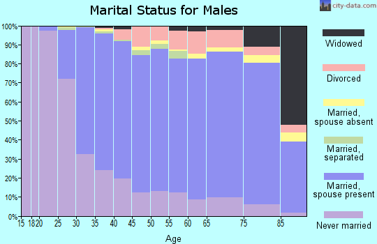 Zip code 19038 marital status for males