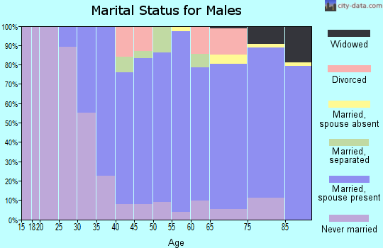 Zip code 19041 marital status for males