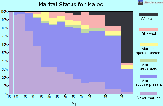 Zip code 19152 marital status for males