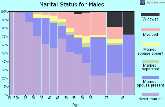 Zip code 20009 marital status for males
