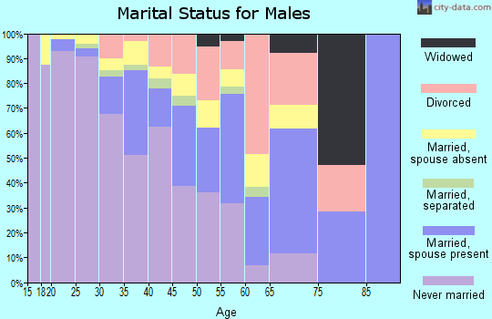 Zip code 20794 marital status for males