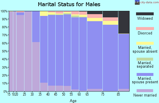 Zip code 20854 marital status for males