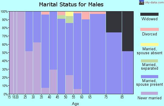 Zip code 21084 marital status for males