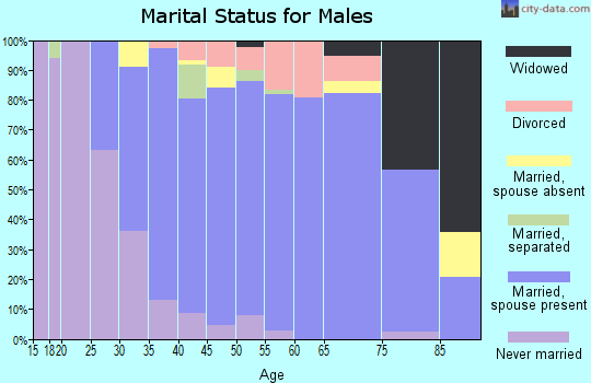 Zip code 21102 marital status for males