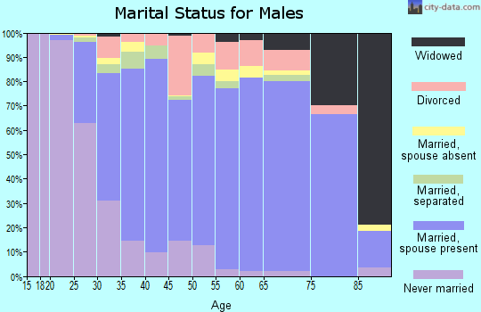 Zip code 21144 marital status for males