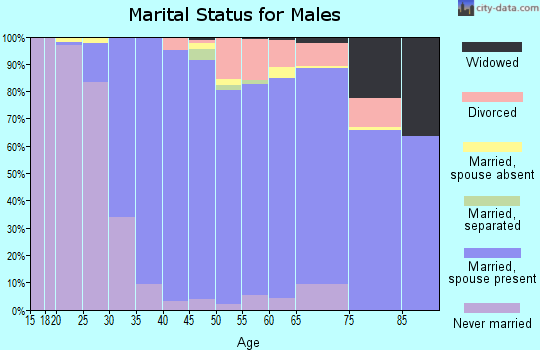 Zip code 21146 marital status for males
