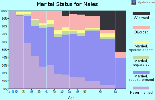 Zip code 21222 marital status for males