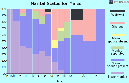 Zip code 21226 marital status for males
