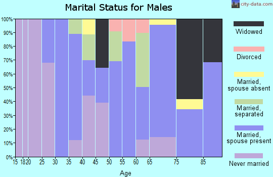 Zip code 22514 marital status for males