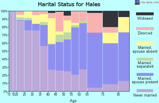 Zip code 22572 marital status for males