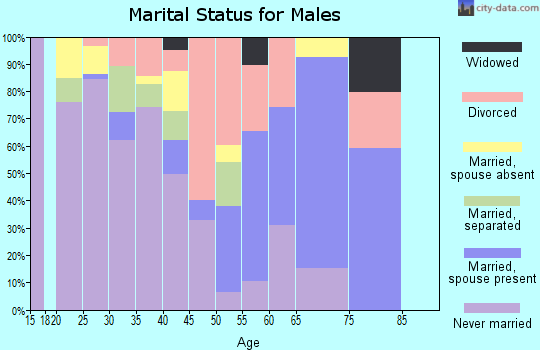 Zip code 27212 marital status for males
