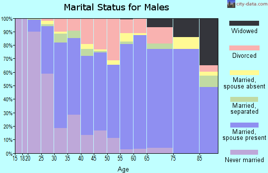 Zip code 27215 marital status for males