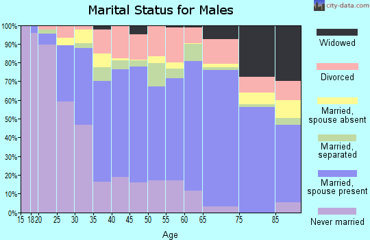 Zip code 27217 marital status for males