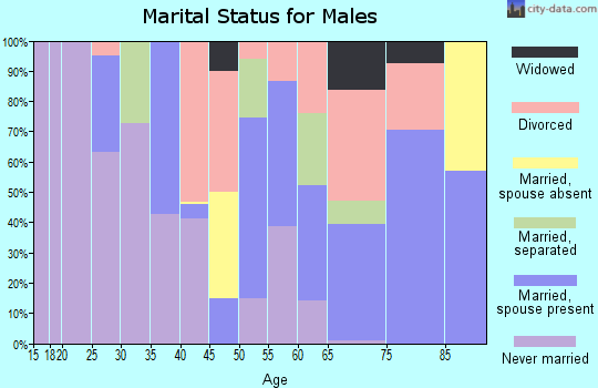 Zip code 27897 marital status for males
