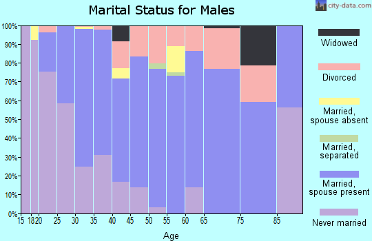 Zip code 30011 marital status for males