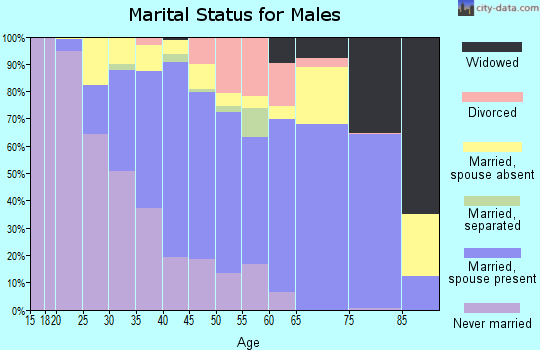 Zip code 30021 marital status for males