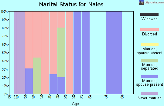 Zip code 30070 marital status for males