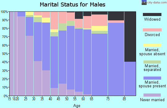 Zip code 30094 marital status for males