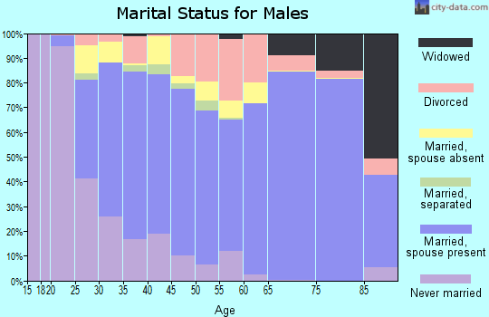 Zip code 30114 marital status for males