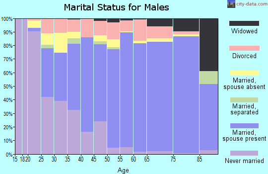 Zip code 30214 marital status for males