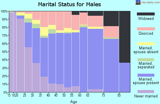 Zip code 30281 marital status for males