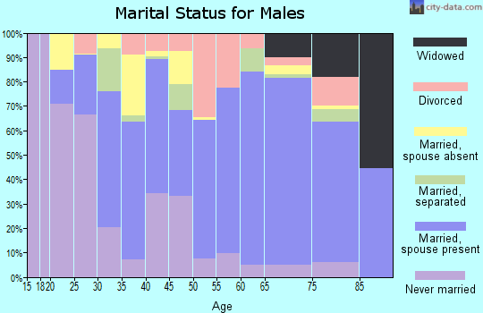 Zip code 30643 marital status for males