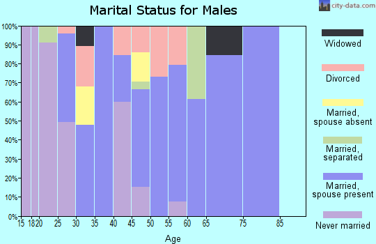 Zip code 30816 marital status for males