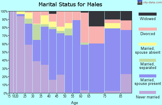 Zip code 31029 marital status for males