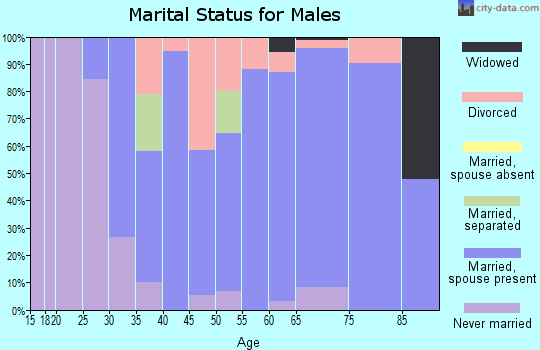 Zip code 31052 marital status for males