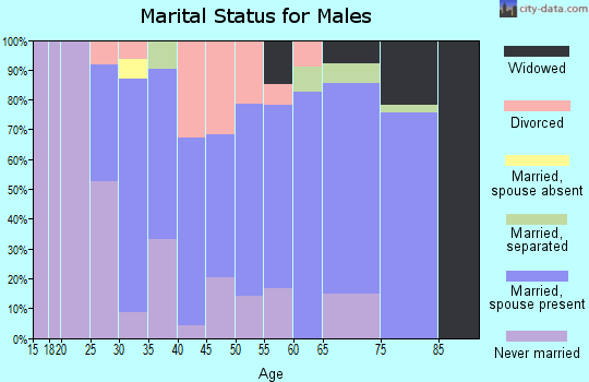 Zip code 31092 marital status for males