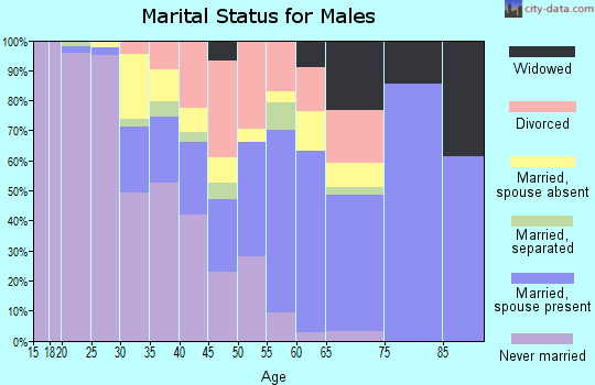 Zip code 31546 marital status for males