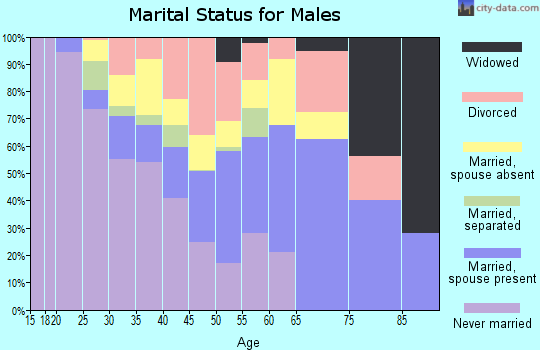 Zip code 31554 marital status for males