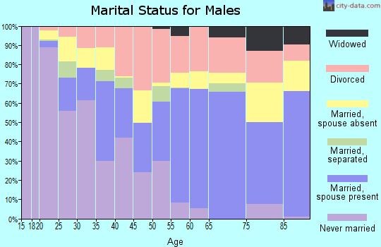 Zip code 32025 marital status for males