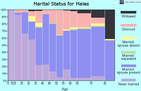 Zip code 32086 marital status for males