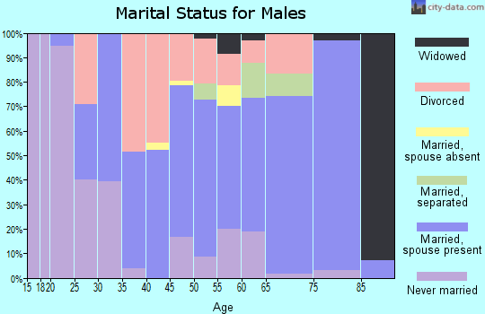 Zip code 32145 marital status for males