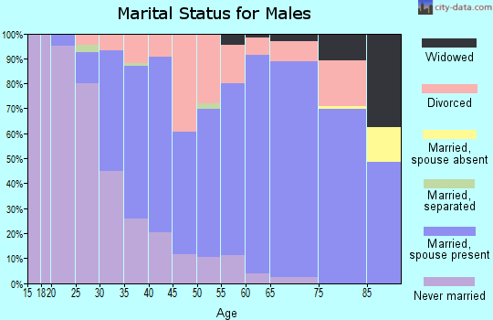Zip code 32224 marital status for males