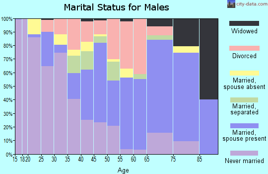 Zip code 32254 marital status for males