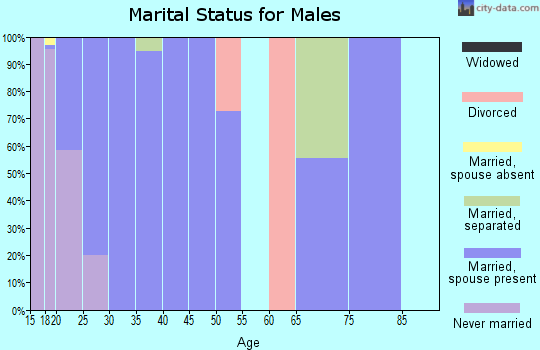 Zip code 32403 marital status for males