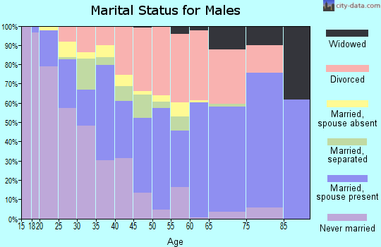 Zip code 32433 marital status for males