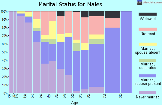Zip code 32465 marital status for males