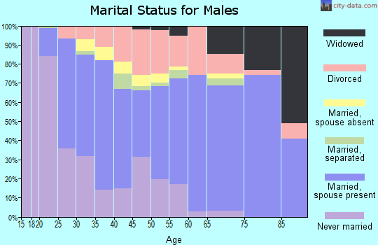 Zip code 32507 marital status for males
