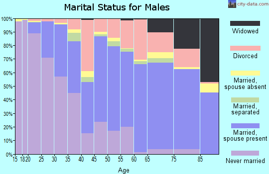 Zip code 32514 marital status for males