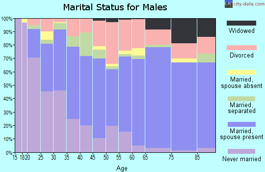 Zip code 32547 marital status for males