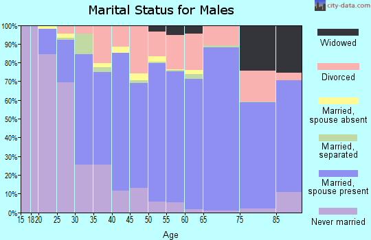 Zip code 32570 marital status for males