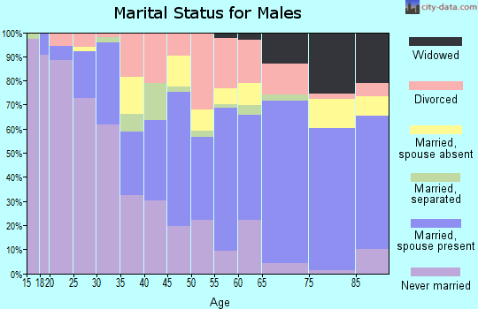 Zip code 32701 marital status for males