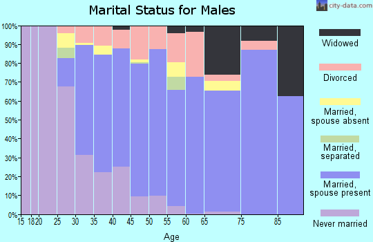 Zip code 32751 marital status for males