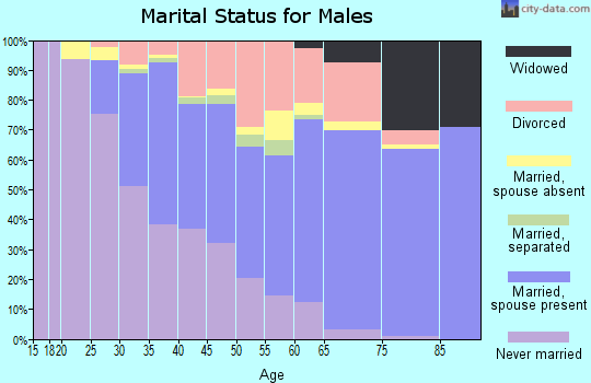 Zip code 32806 marital status for males
