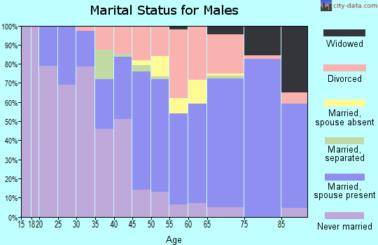 Zip code 32931 marital status for males