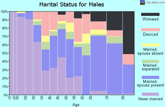 Zip code 33404 marital status for males