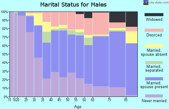 Zip code 33415 marital status for males
